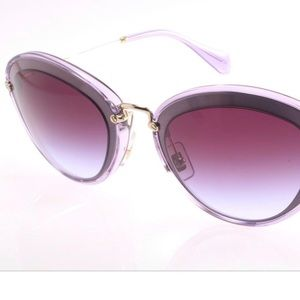 Miu Miu Women`s Sunglasses Lilac Blue